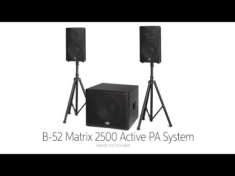 B-52 Matrix Active PA System by Sweetwater Sound streaming vf