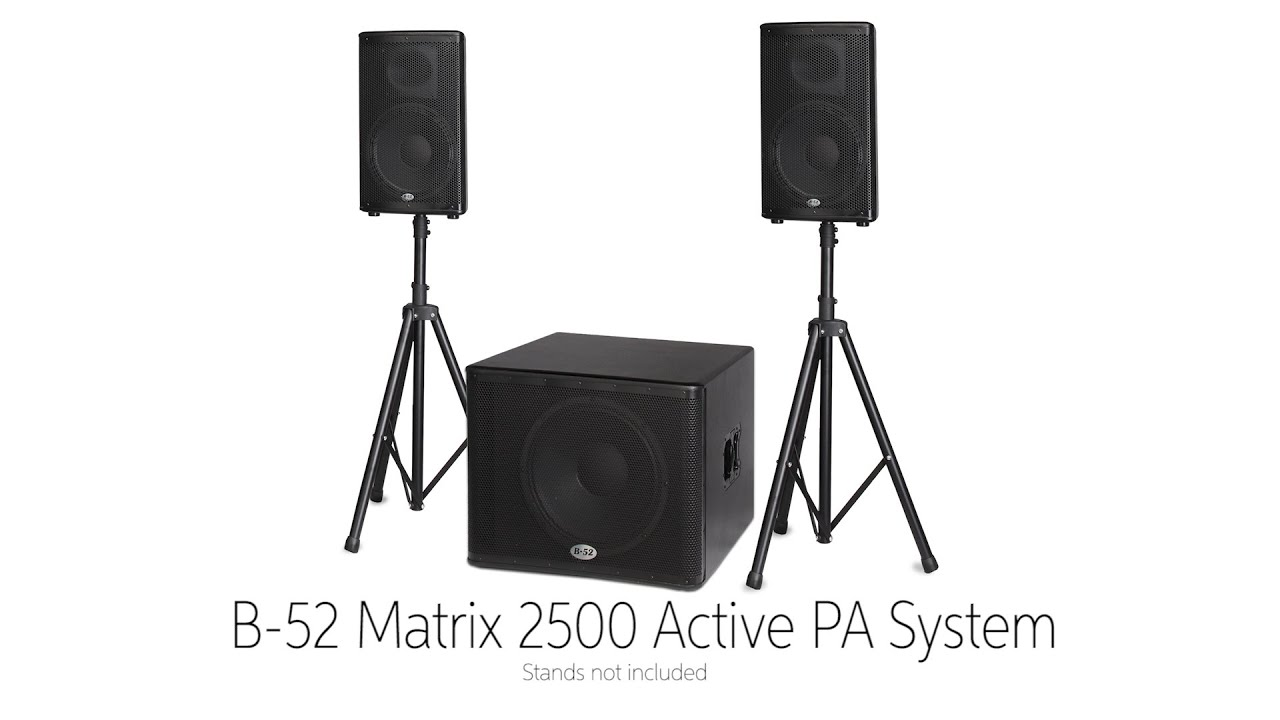 B-52 Matrix Active PA System by Sweetwater Sound
