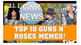Guns N' Roses: Top 10 Internet Memes! Jokes About Axl's Weight, Guns N' Moses & Steven Adler!