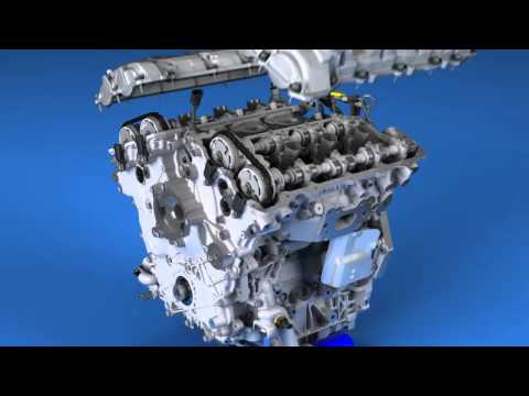 GM 2014 3.6L twin-turbo V6 Build Animation