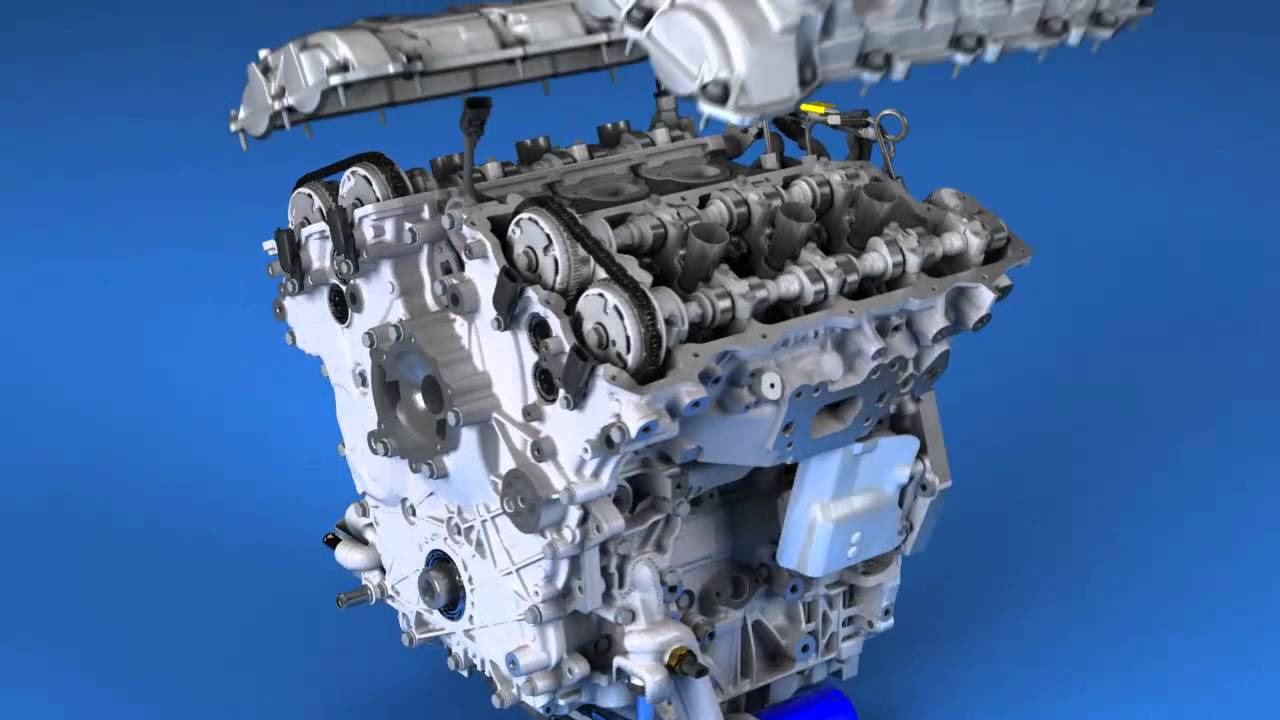 Gm 2014 3 6l Twin-turbo V6 Build Animation