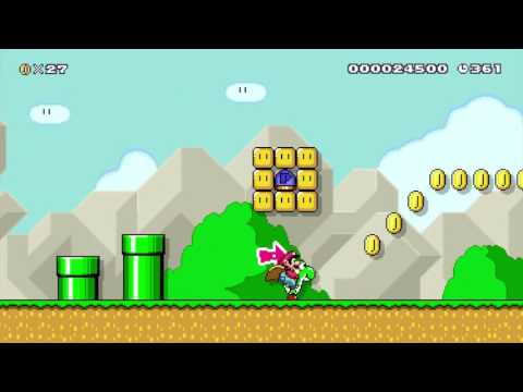 Super Mario Maker Scene 2: Forests and Costumes and Trains!
