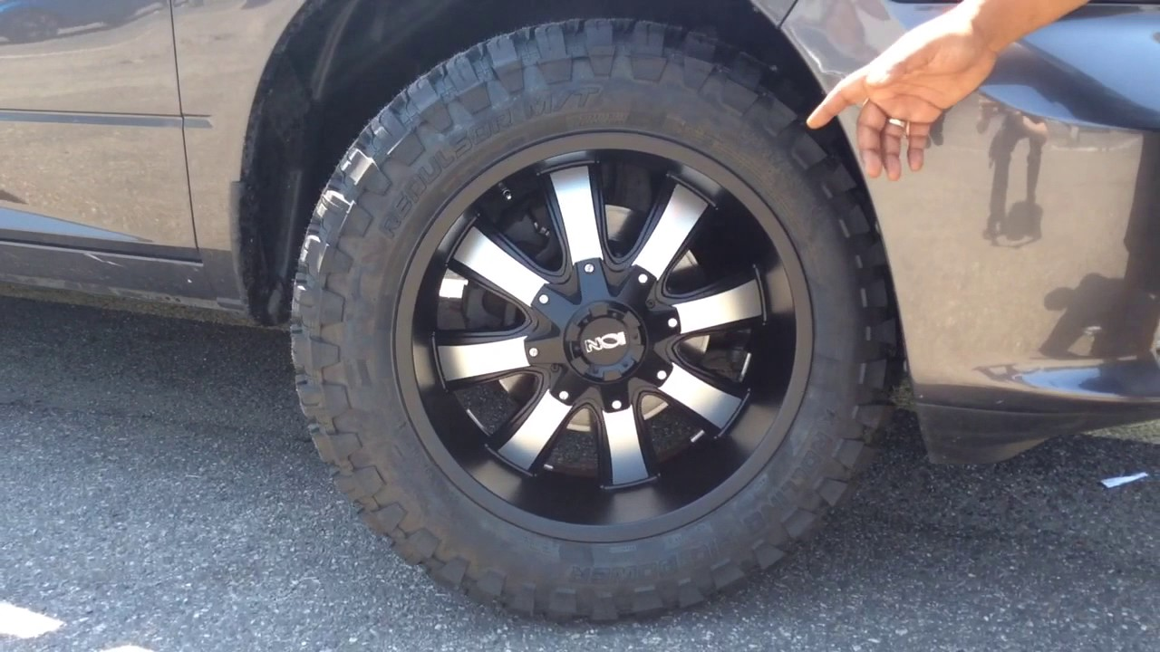 """F150 With Rims >> Dodge Ram Sitting on 20"""" Ion Alloy 189 Black and Machined wheels. - YouTube"""