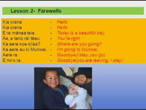 LEARN COOK ISLANDS LANGUAGE -Lesson 2