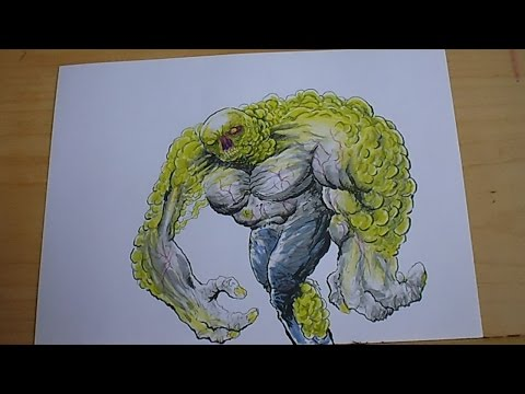 Drawing A Radioactive Mutant Creature