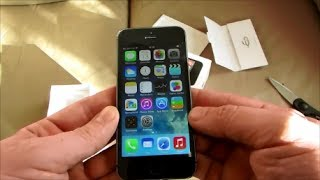 New Apple iPhone 5S Unboxing space grey 16gb  phone