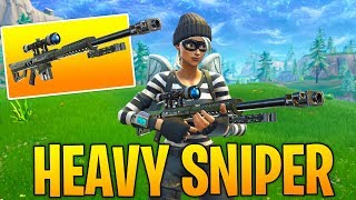 *NEW* Fortnite Heavy Sniper Gameplay! (COMPLETELY BROKEN....)