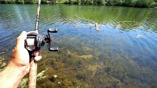 ULTRA CLEAR Pond Fishing for Spawning Bass!!!