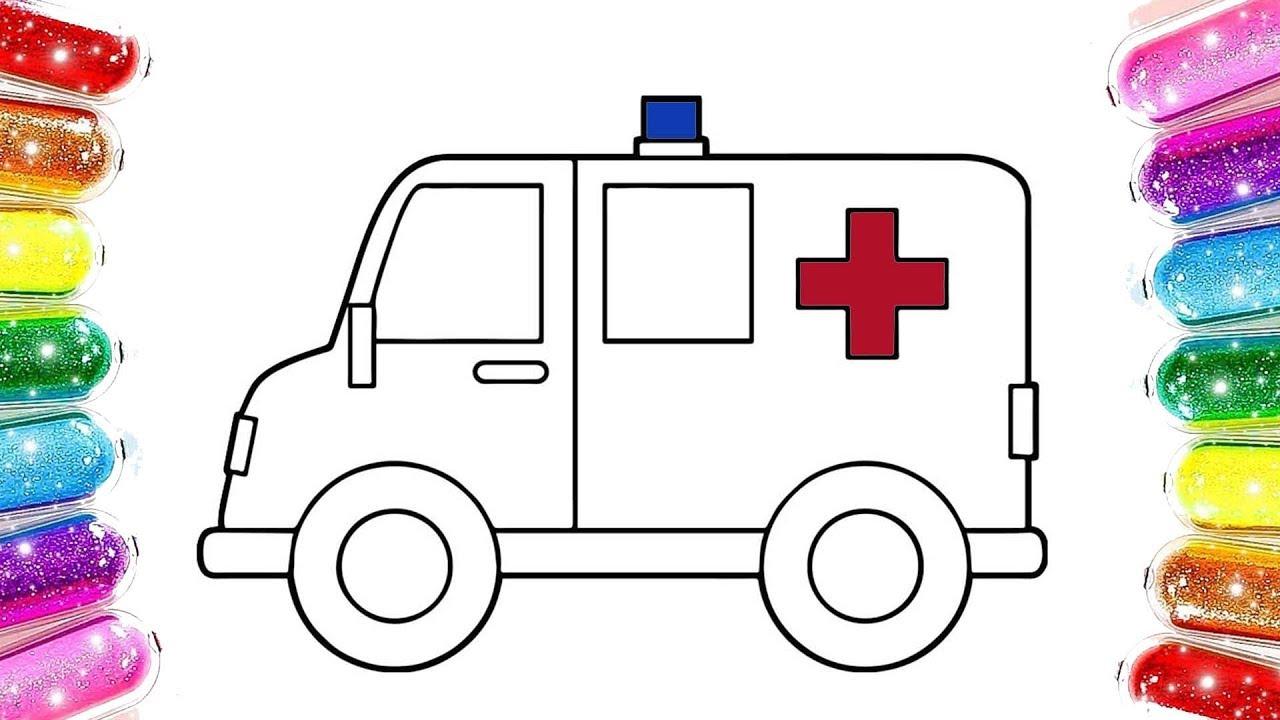 Ambulans Boyama Renkleri Ogreniyorum Tasitlar Boyama Youtube