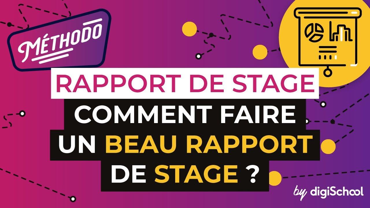 Rapport de Stage  Comment faire un beau rapport de stage   YouTube
