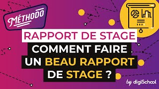 comment faire un rapport de stage