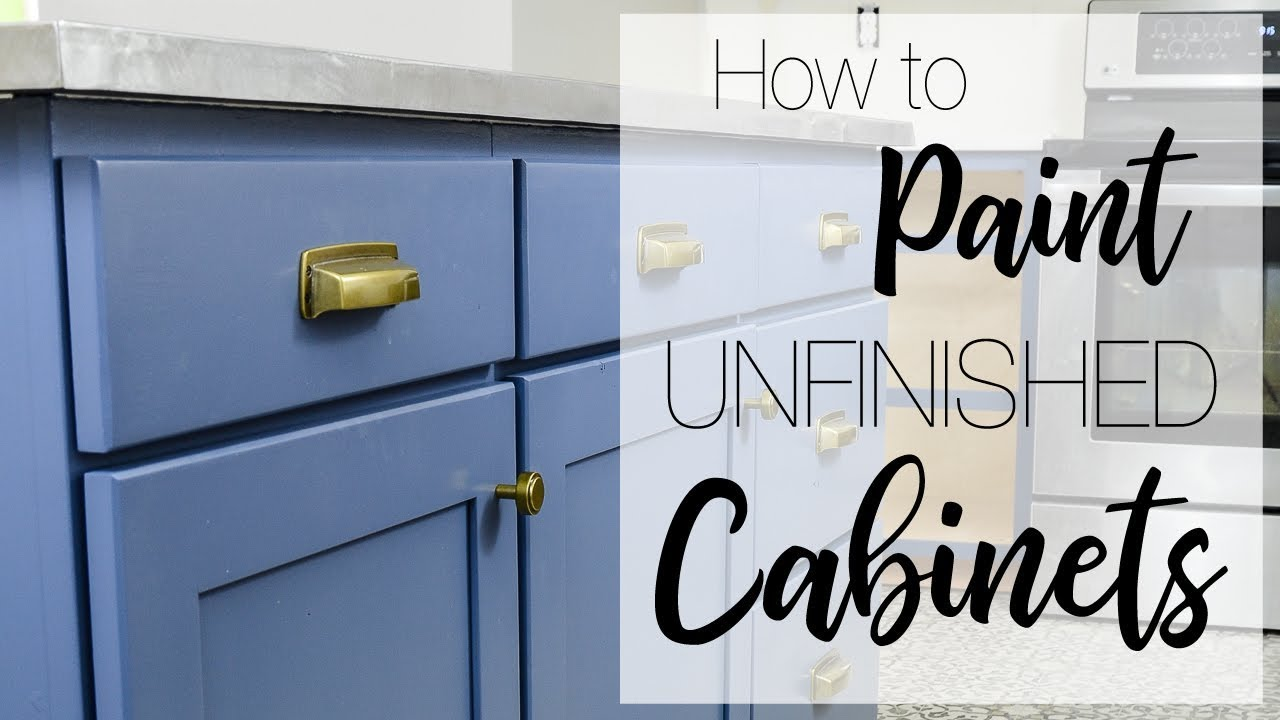 Painting Kitchen Cabinets with a Paint Sprayer - YouTube