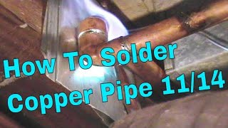 How To Solder Copper Pipe And Repipe Home Part 11