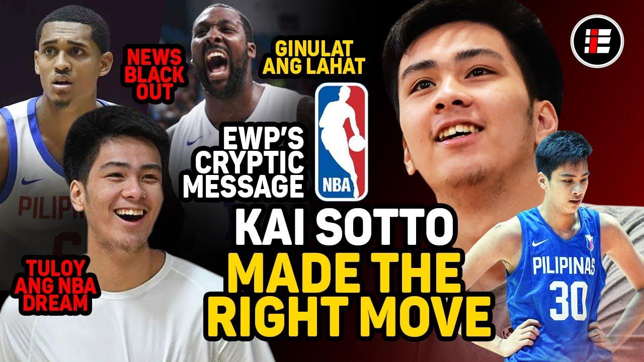 KAI SOTTO MADE THE RIGHT MOVE, EWP MAYRONG CRYPTIC MESSAGE | TULOY NA ANG NBA DREAM