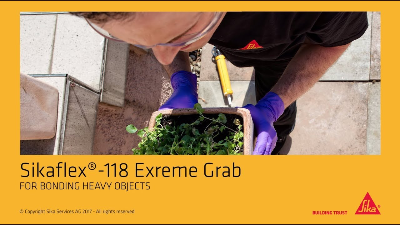 Sikaflex®-118 Extreme Grab - For Bonding heavy objects
