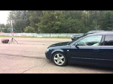 Audi A4 2.5 TDI V6 180hp drag race