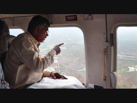 AP CM Areial View of HNS Works & Project Canals in Owk Reservior - hybiz