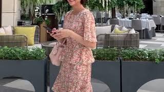 로만다 프릴 원피스 핑크