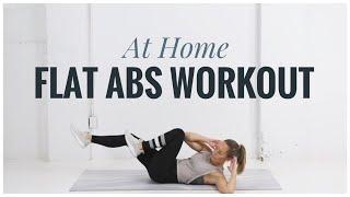 FLAT ABS Home Workout // No Equipment