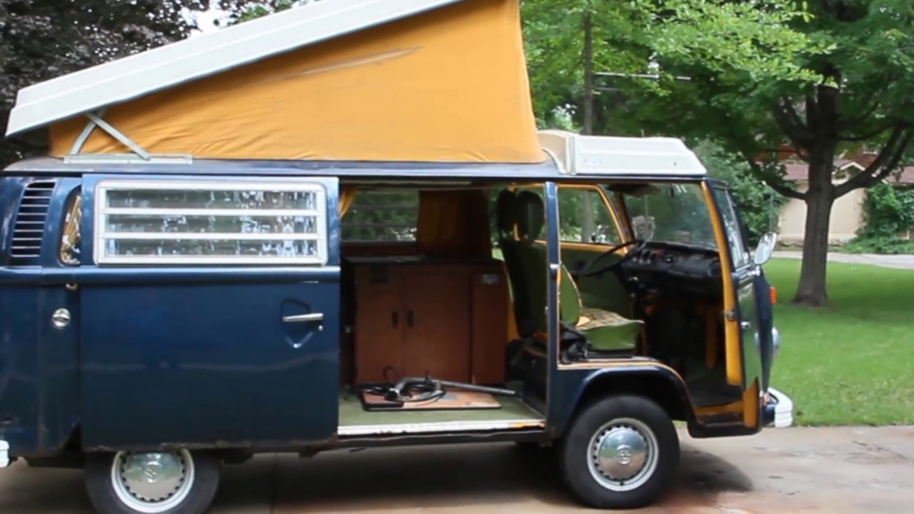 1976 volkswagen vw westfalia camper bus van youtube. Black Bedroom Furniture Sets. Home Design Ideas