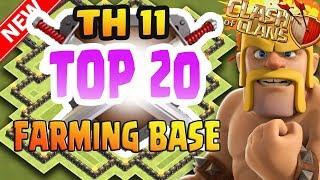 TOP 20 FARMING BASE TH 11  2017   TITAN FARMING BASE / LEGEND FARMING BASE LAYOUT 2017