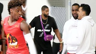 Bronny James Doesn't HOLD BACK in front of LeBron Matt Barnes and Tristan Thompson