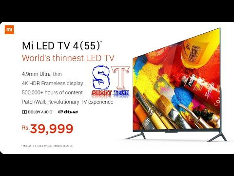 [Hindi] Xiaomi mi TV 4(55 inch 4k HDR Led tv) 39999||by short tech shorttech