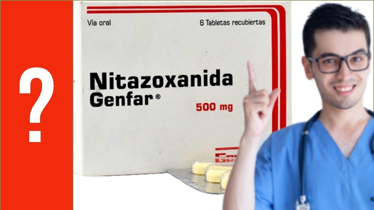nitazoxanida para oxiuros)