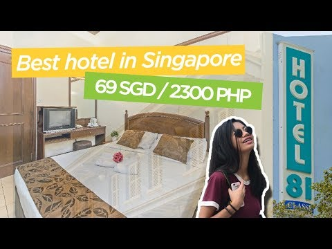 BEST Cheap Hotel in Singapore!   Hotel 81 Classic Room Tour