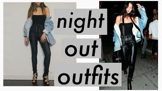 MODEL INSPIRED LOOKBOOK | Bella Hadid's Leather Pants | Going Out Outfits
