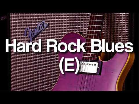 Hard Rock Blues Backing Track in E