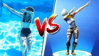 FORTNITE DANCE CHALLENGE UNDERWATER! - (In Real Life)