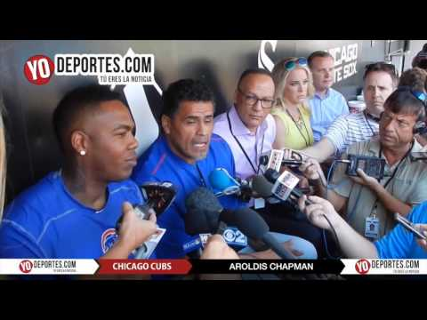 Aroldis Chapman Chicago Cubs first press conference
