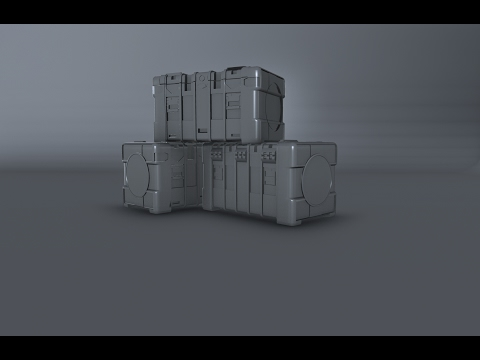 Modeling Sci fi crate 3ds max tutorial part - 1 - YouTube