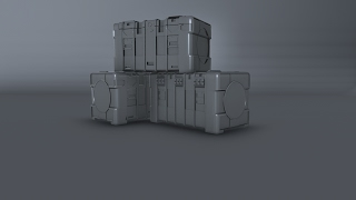 Modeling Sci fi crate 3ds max tutorial part - 1