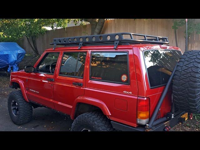 jeep xj cherokee roof rack build