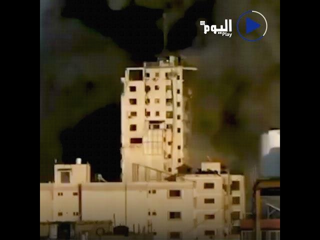 الطائرات الإسرائيلية تدمر برج الشروق في قطاع غزة