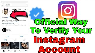 How To Verify Instagram Account Official In Android Phone - Get Verified On Instagram Officially