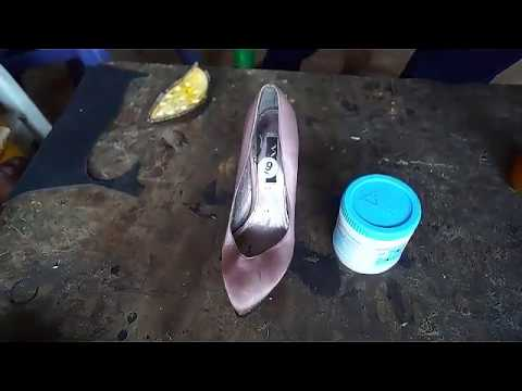 How to cover shoe with fabric (Ankara)