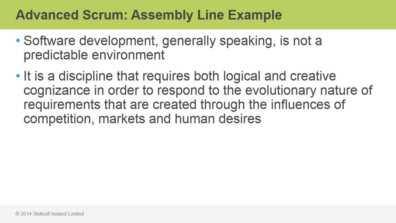 Advanced Scrum Assembly Line Example