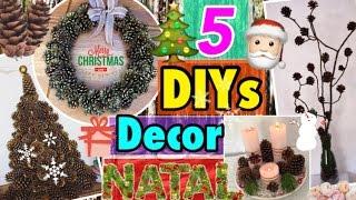 DECORAÇÃO de NATAL 🎅🏻 5 DIY,s com PINHAS #2 | Natal 2016