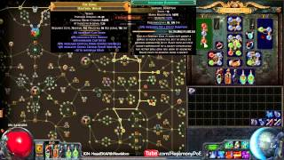 Path of Exile Act4: EK/EB/AA/ZO Crit Witch Gameplay (Canyon)