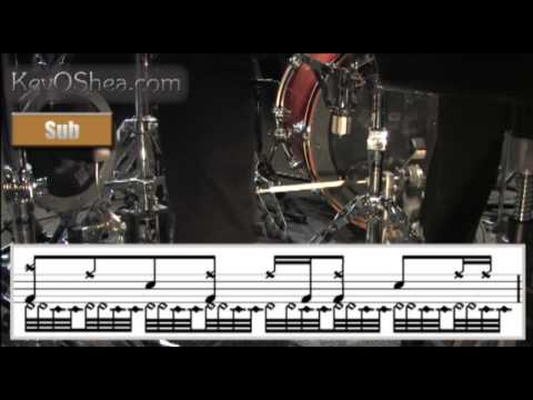 ★ Advanced Drum Lesson ★ Thomas Lang Double Bass Transcription