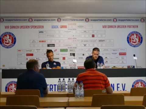 Pressekonferenz Wuppertaler SV 02.09.16 vor Regionalliga West Spiel gegen Alemannia Aachen
