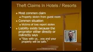 Hotel Resort Theft Investigations Casino Security Executive Protection Security Management 8-9-13
