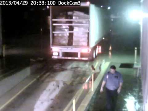 Truck Driver Forgets To Engage Parking Brakes, Gravity Ensues.