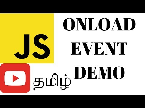 TAMIL ONLOAD EVENT IN JAVASCRIPT DEMO