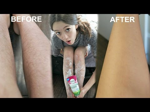 Dissolving MY Leg Hairs?! First Time Dissolving Leg Hair With Lotion | Fiona's Favs Or Fails