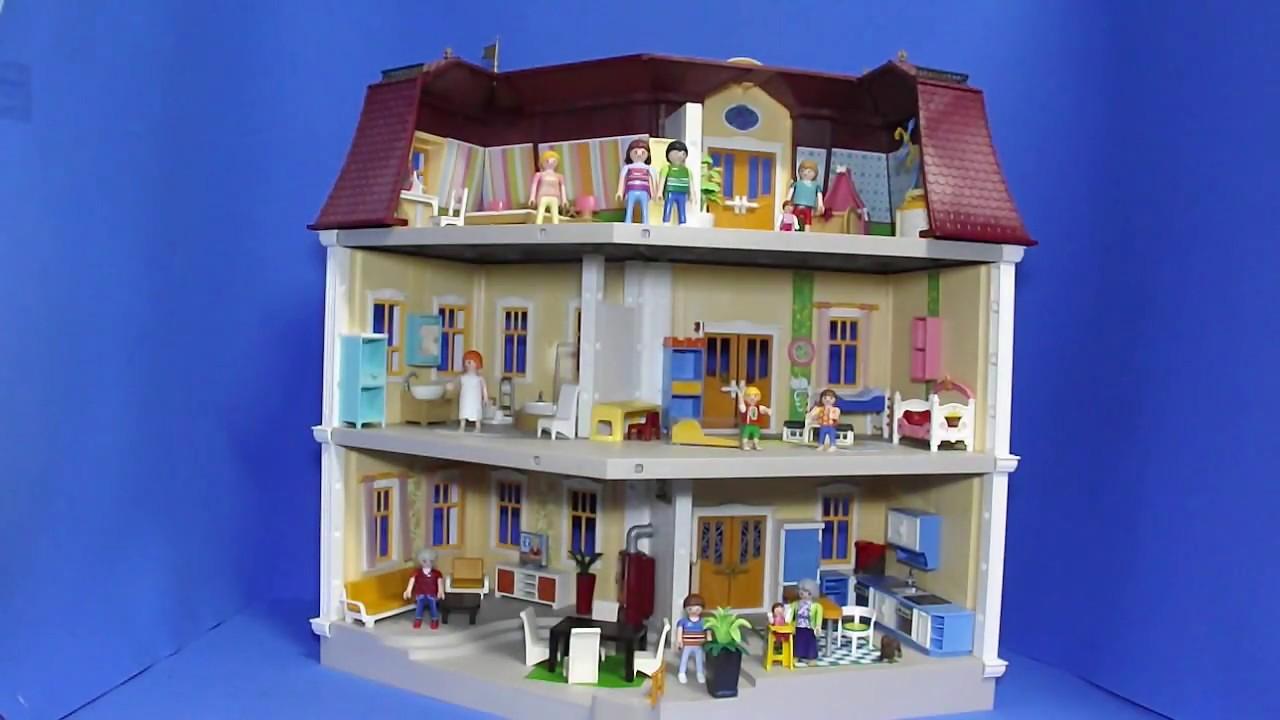 Playmogah 87 playmobil 5302 mans o moderna casa de bonecas youtube - Gran casa de munecas playmobil ...