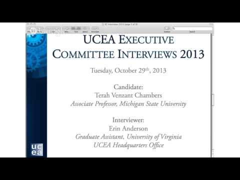 2013 UCEA EC Interview- Terah Venzant Chambers